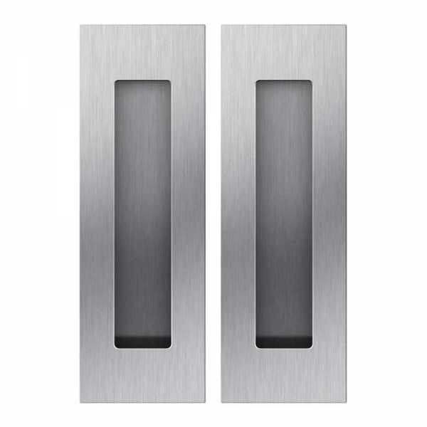 Rectangular- Satin Brushed, Grip Handle For wood Doors