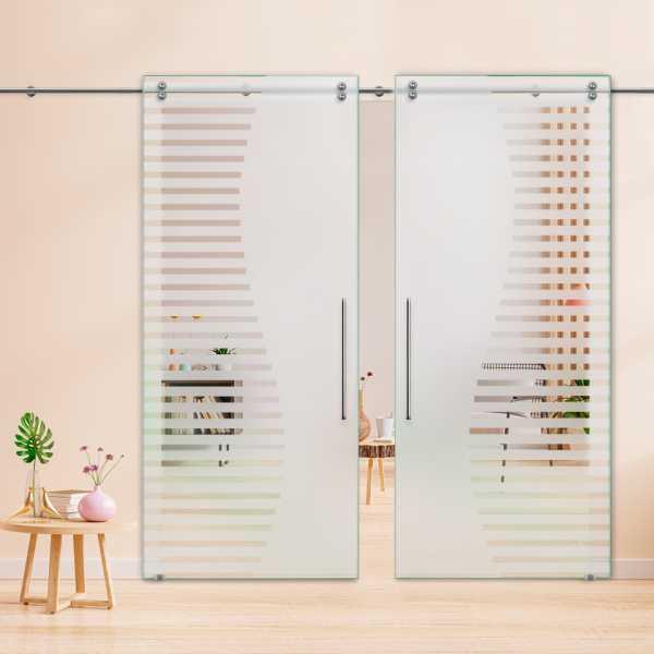 Glass Barn Door (Model DSGD-V2000-0013 Semi-Private)