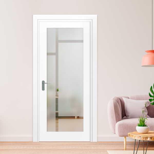 1 Lite Interior Door with Glass Insert (Model 1LID-0027 Semi-Private)