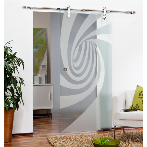 Sliding Glass Barn Door SGD-V1000-0082 semi-private