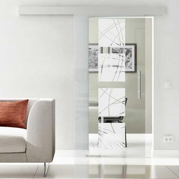 Sliding Glass Barn Door SGD-ALU100-0004 semi-private