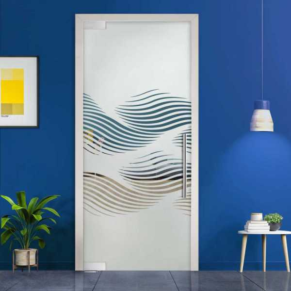 Pivot Glass Door (Model PD-0024 Semi-Private) with Handle Bar