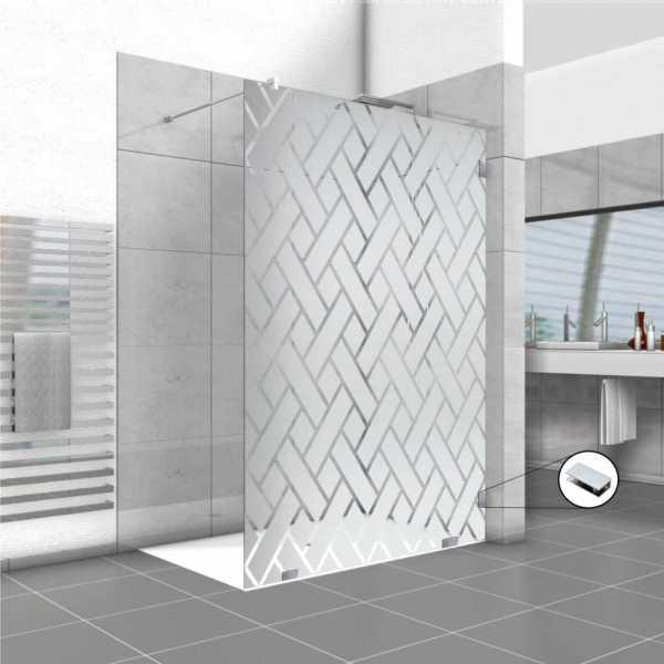 Frameless Fixed Shower Glass Panel FSS-0025