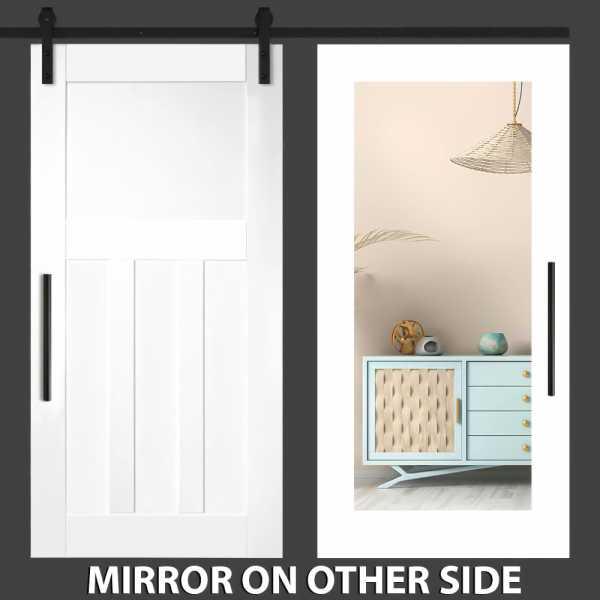 4 Panel Mirror Barn Door with Mirror Insert WMD-0019