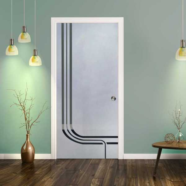 Pocket Glass Barn Door (Model PSGD-0079 Semi-Private)