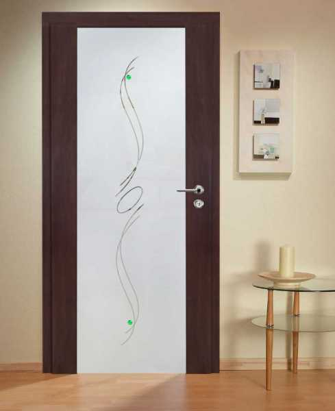Solid Wood Hinged Door with Glass Insert