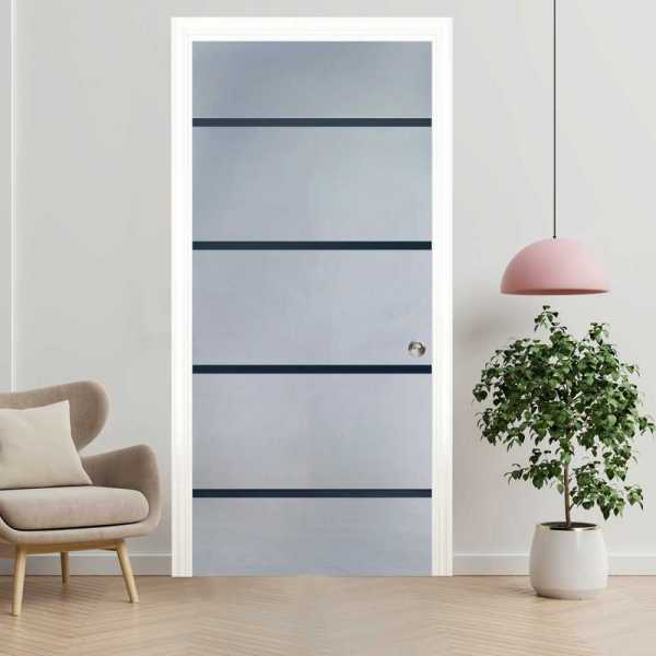 Pocket Sliding Glass Door with Frosted Design