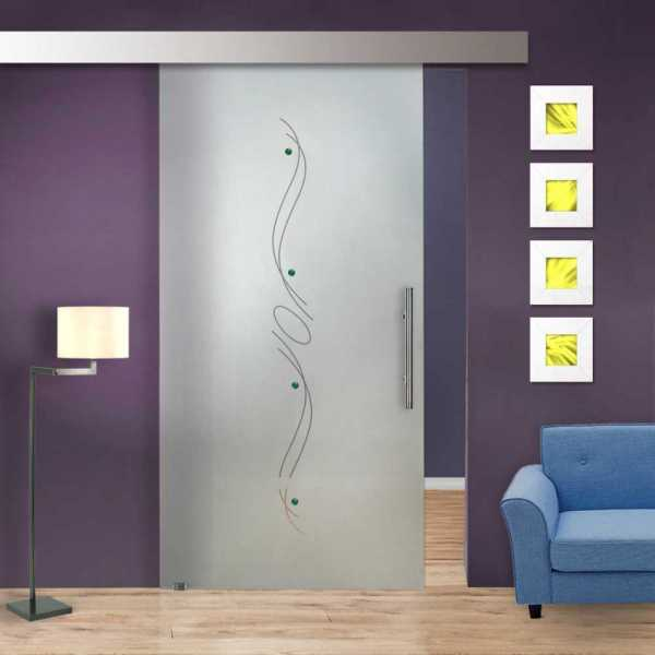 Sliding Glass Barn Door SGD-ALU100-0227