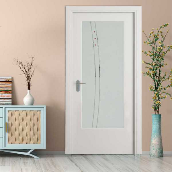 Music Room MDF Hinged Doors with Glass Insert CHMDI-0006