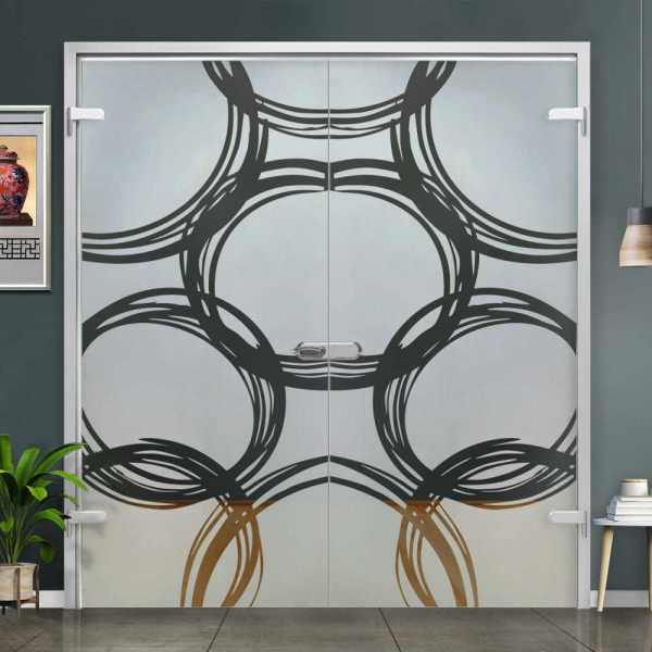Double Hinged Glass Door (Model H-H+DHGD-0030 Semi-Private)