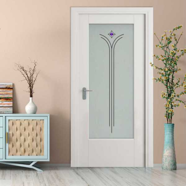 MDF Hinged Doors with Glass Insert HMDI-0001