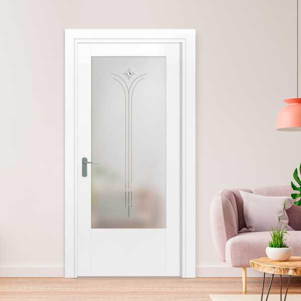 3/4 Lite Interior Door with Glass Insert (Model HMDI-00001 Semi-Private)