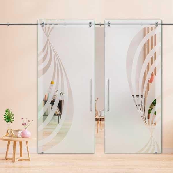 Glass Barn Door (Model DSGD-V2000-0043 Semi-Private)