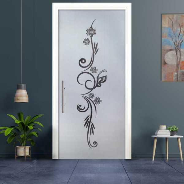 """++Sales Offers++ 28"""" x 80"""" Pocket Sliding Glass Door Semi-Private with Frosted Design """"Open Box"""""""