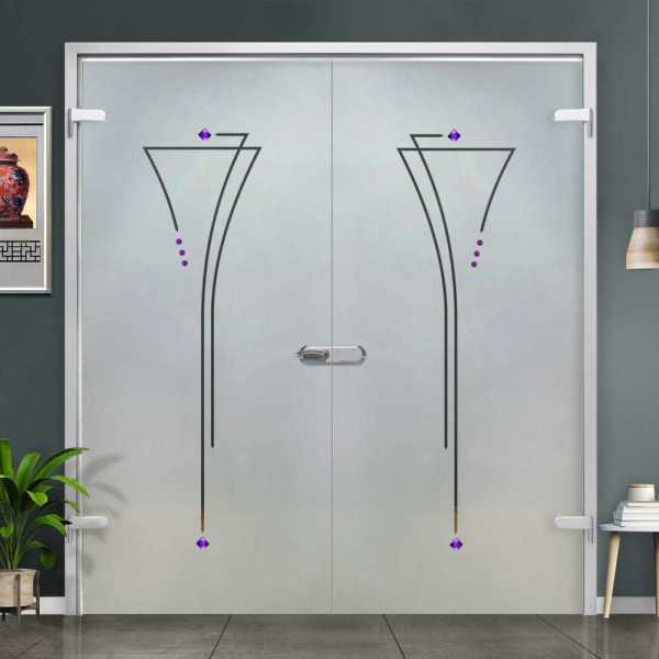 Double Hinged Glass Door H-H+DHGD-0019