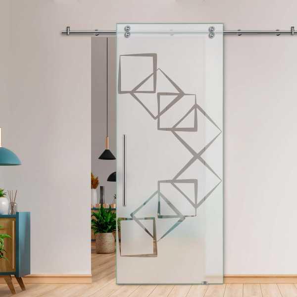 Glass Barn Door (Model SGD-V2000-0249 Semi-Private)