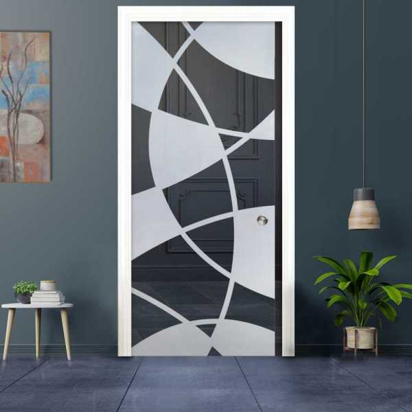 Pocket Glass Barn Door (Model PSGD-0019 Semi-Private)