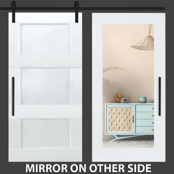 3 Panel Mirror Barn Door with Mirror Insert WMD-0281