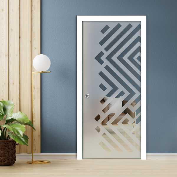 Pocket Glass Barn Door (Model PSGD-0095 Semi-Private)