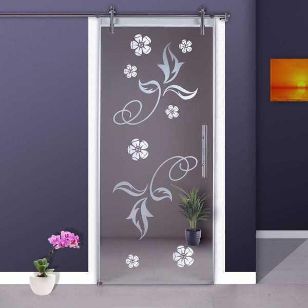 Sliding Glass Barn Door SGD-V1000-0053 semi-private