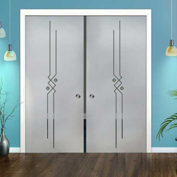 Double Pocket Glass Barn Door (Model DPSGD-0111 Semi-Private)_Recessed Grip Handle