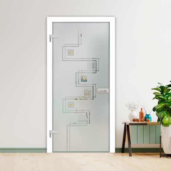 Hinged Glass Door (Model HGD-H+H-0066 Semi-Private)