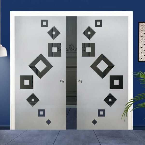 Double Pocket Glass Barn Door (Model DPSGD-0024 Semi-Private)_Recessed Grip Handle