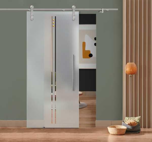 Glass Barn Door (Model SGD-V1000-0115 Semi-Private)