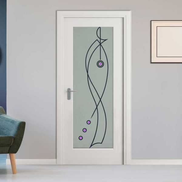 Interior Hinged Doors with Glass Insert CHMDI-00020
