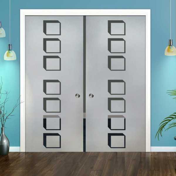 Double Pocket Glass Barn Door (Model DPSGD-0100 Semi-Private)_Recessed Grip Handle