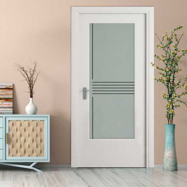 3/4 Lite Interior Door with Glass Insert (Model HMDI-0027 Semi-Private)