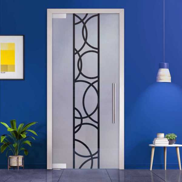 Pivot Glass Door (Model PD-0044 Semi-Private) with Handle Bar