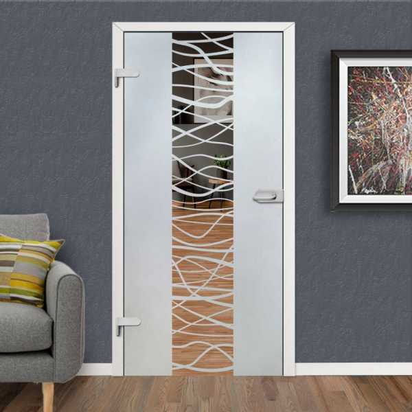 Hinged Glass Door HGD-H+H-0058 (semi-Private)