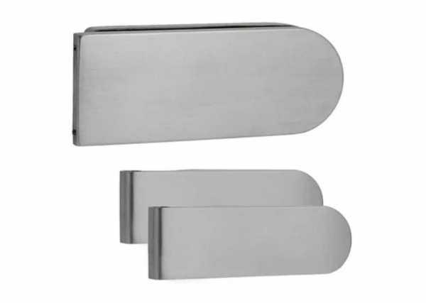 Stainless Steel Strike Box for Glass Door Lock & Latch + Studio Hinges