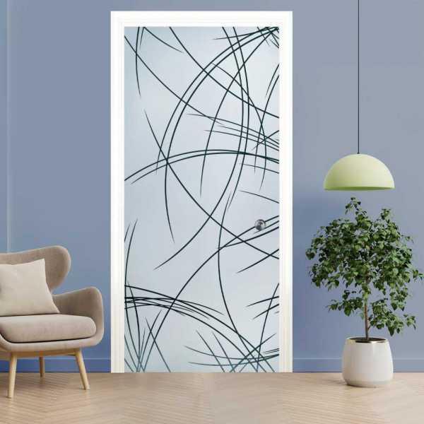 Pocket Glass Barn Door (Model PSGD-0102 Semi-Private)