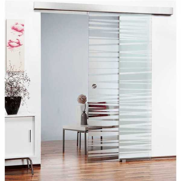 Glass Barn Door (Model SGD-ALU100-0160 Semi-Private)