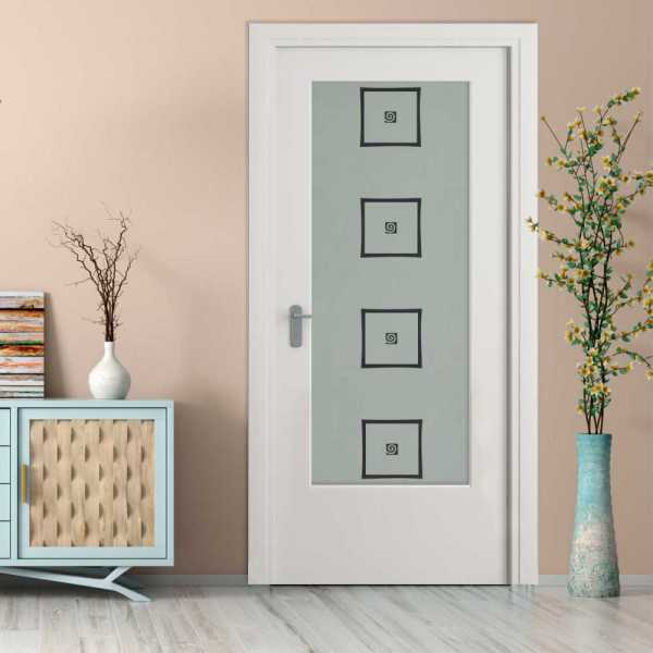 MDF Hinged Doors with Glass Insert HMDI-0008