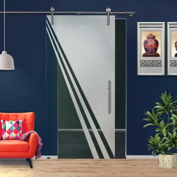 ++Sales Offers++ Sliding Glass Barn Door SGD-V1000-0237