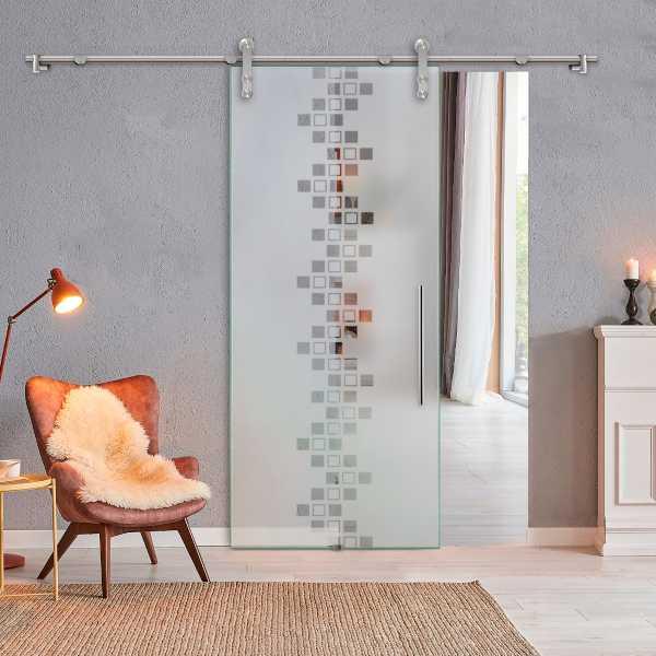 Glass Barn Door (Model SGD-V1000-0311 Semi-Private)
