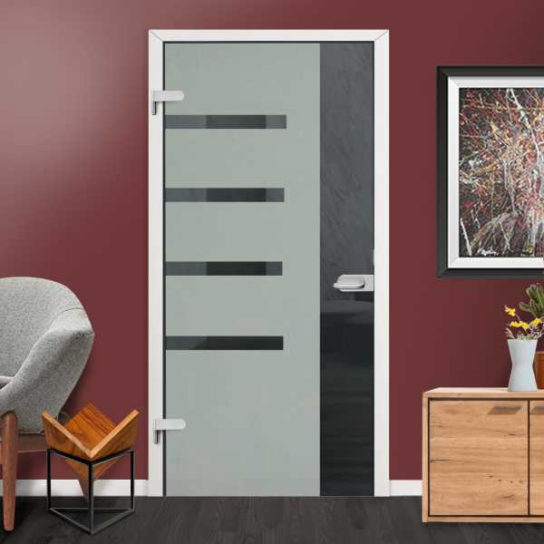"36""x84"" Hinged Glass Door HGD-H+H-0021 Semi-Private ""Open Box"""