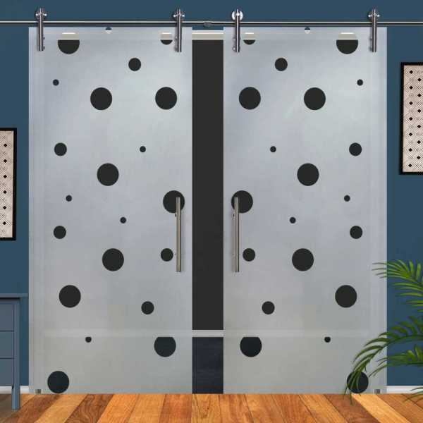 Double Glass Barn Door (Model DSGD-V1000-0063 Semi-Private)