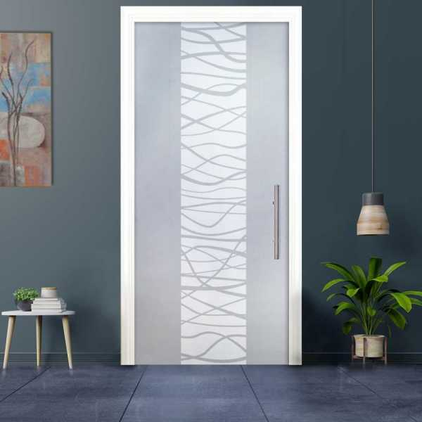 """Sliding Pocket Glass Door, 30"""" x 84"""", Glass thickness: 3/8"""", Hanldle and Hardware"""