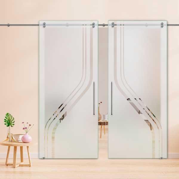 Glass Barn Door (Model DSGD-V2000-0045 Semi-Private)