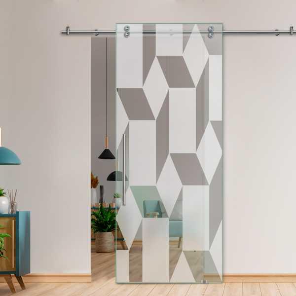 Glass Barn Door (Model SGD-V2000-0244 Semi-Private)