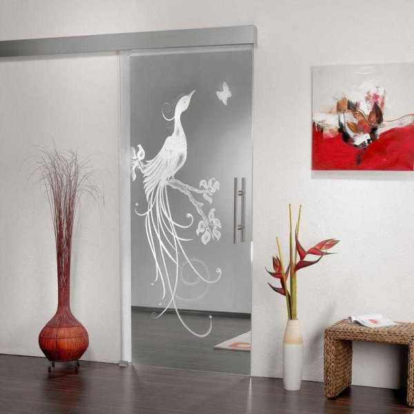 Sliding Glass Barn Door SGD-ALU100-0071 semi-private