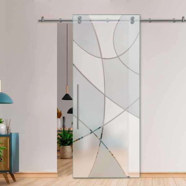 Single Sliding Barn Glass Door SGD-V2000-0043