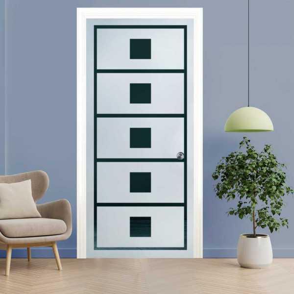 Pocket Glass Barn Door (Model PSGD-0059 Semi-Private)