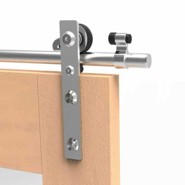 Stainless Steel Sliding Wood Barn Door Hardware Kit SH-SS-0016
