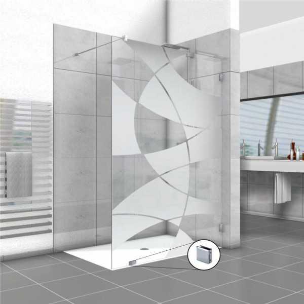 Frameless Fixed Shower Glass Panel FSS-0003