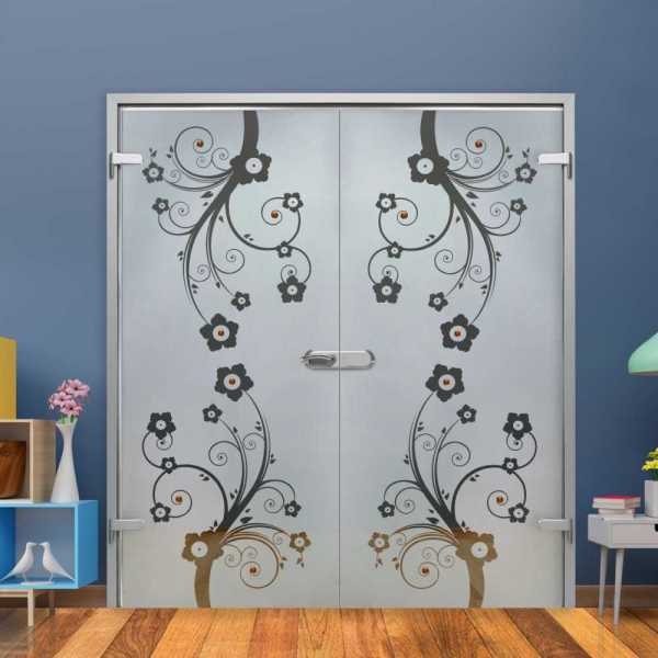 Double Hinged Glass Door (Model H-H+DHGD-0004 Semi-Private)